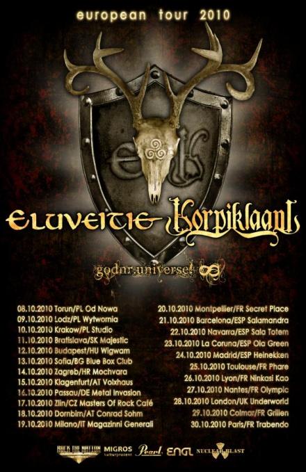 Eluveitie, Korpiklaani, Godnr.universe! : Lyon (26/10/2010]